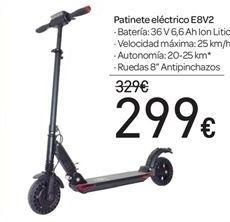 Oferta de Patinete eléctrico E8V2 por 299€