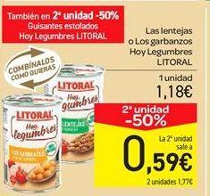Oferta de Lentejas o garbanzos por 1.18€