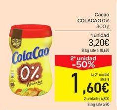 Oferta de Cacao COLACAO 0%  por 3.2€