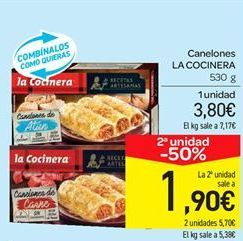 Oferta de Canelones La Cocinera por 3.8€
