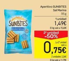 Oferta de Aperitivos sunbites sal marina por 1.49€