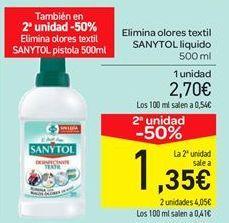 Oferta de Elimina olores textil SANYTOL liquido por 2.7€