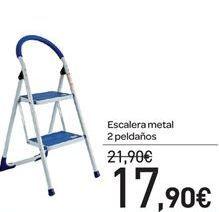 Oferta de Escalera metal 2 peldaños por 17.9€