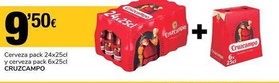 Oferta de Cerveza Cruzcampo por 9.5€