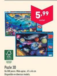 Oferta de Puzzle 3d por 5.99€