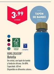 Oferta de Botella de agua Home creation por 3.99€