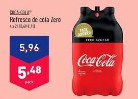 Oferta de Refresco de cola Coca-Cola por 5.48€