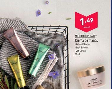 Oferta de Crema de manos mildeen por 1.49€