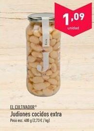 Oferta de Judías cocidas El Cultivador por 1.09€