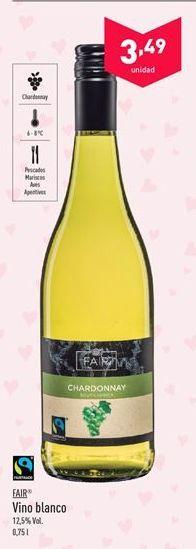 Oferta de Vino blanco Fair por 3.49€