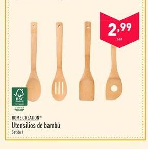 Oferta de Utensilios de cocina Home creation por 2.99€