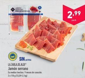 Oferta de Jamón serrano aldi por 2.99€