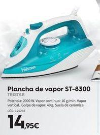Oferta de Plancha de vapor Tristar por 14.95€
