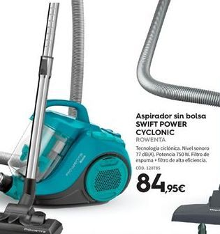 Oferta de Aspirador sin bolsa Rowenta por 84.95€
