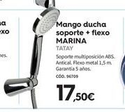 Oferta de Mango de ducha Tatay por 17,5€