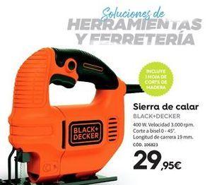 Oferta de Sierra de calar Black & Decker por 29.95€