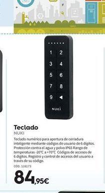 Oferta de Teclado Nuki por 84.95€