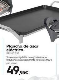 Oferta de Plancha de asar eléctrica Princess por 49.95€