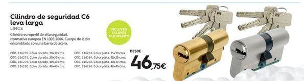 Oferta de Cilindro de seguridad lince por 46.75€
