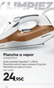 Oferta de Plancha de vapor Magefesa por 24.95€
