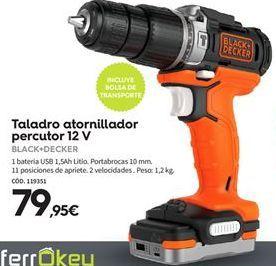 Oferta de Taladro atornillador Black & Decker por 79,95€