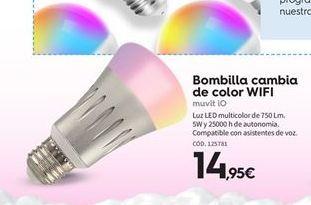 Oferta de Bombilla led muvit por 14.95€