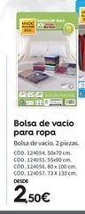 Oferta de Bolsas de vacío por 2.5€