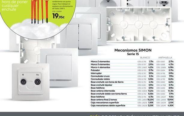Oferta de Electricidad Simon por 1.75€
