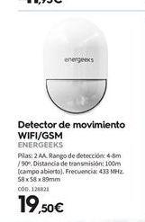 Oferta de Detector de movimiento energeeks por 19,5€