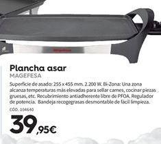 Oferta de Plancha de asar Magefesa por 39.95€