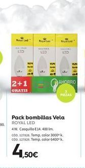 Oferta de Bombilla led vela Royal led por 4,5€