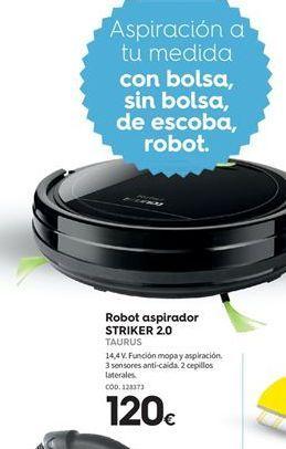 Oferta de Robot aspirador Taurus por 120€
