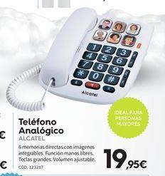 Oferta de Teléfono de sobremesa Alcatel por 19.95€