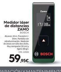 Oferta de Medidor láser Bosch por 59.95€
