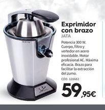 Oferta de Exprimidor Jata por 59.95€