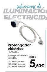 Oferta de Prolongador de corriente famatel por 5.5€