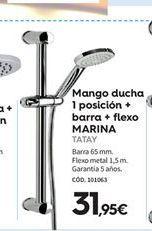 Oferta de Mango de ducha Tatay por 31,95€