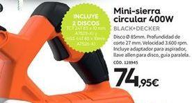Oferta de Sierra circular Black & Decker por 74.95€