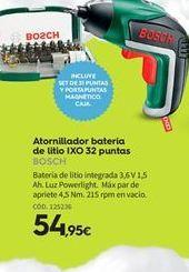 Oferta de Atornillador a batería Bosch por 54,95€