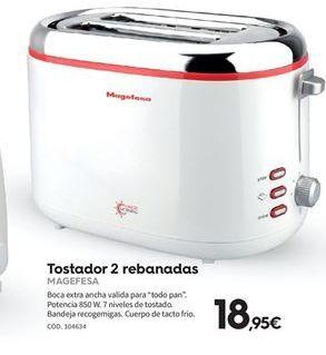 Oferta de Tostadora Magefesa por 18.95€