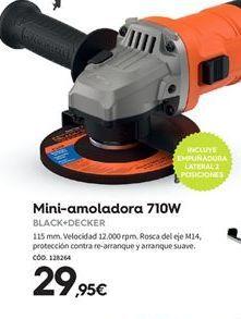 Oferta de Mini amoladora Black & Decker por 29.95€