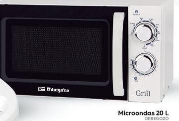 Oferta de Microondas con grill Orbegozo por 79.95€
