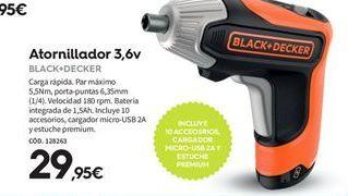 Oferta de Atornillador Black & Decker por 29,95€