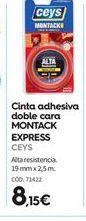 Oferta de Cinta adhesiva ceys por 8.15€