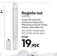 Oferta de Regleta led Simon por 19.95€