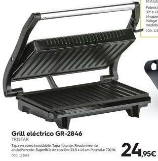 Oferta de Grill Tristar por 24.95€