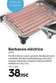 Oferta de Barbacoa electrica Jata por 38.95€