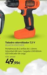 Oferta de Taladro atornillador Black & Decker por 49,95€