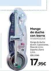Oferta de Mango de ducha vivahogar por 17,95€