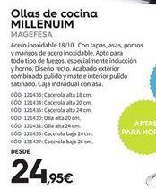 Oferta de Ollas Magefesa por 24.95€